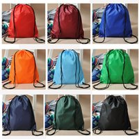 Wholesale Free DHL outdoor bag Portable backpack collapsible Beach bag Drawstring Backpack Gym Swim School Dance Shoe Boot PE Drawstring Bag Backpack