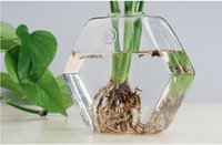glass fishbowl - hexagon glass wall planter terrarium glass wall fishbowl desktop planter vase for wall decor homw decor house ornament