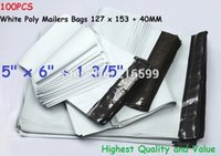 Wholesale 100 White Poly Mailers Shipping Plastic Envelopes Self Sealing Mailing Bags quot x quot x153 mm