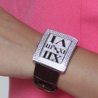 Wholesale 2015 new fashion women dress watches luxury brand reloj quartz ladies watch with rhinestones relogio feminino