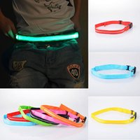 Wholesale LED Flashing Waistband Safety Reflective Belt Waistband Bicycle Jogging Running