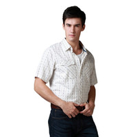 best sleeve stripe shirt - Shirt Men Stripe Shirt Casual Dress Shirts Short Sleeve Cotton Plus Size Best Quality Size S M L XL Brown Green Stripe