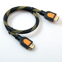 Wholesale Brand New HDMI Version A Male to A Male cables PIN meter with mesh tube