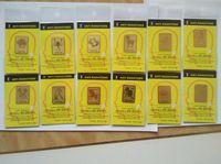 Wholesale K gold The Zodiac anti adiation sticker anti radiation chip for mobile phone