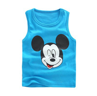 clothes cheap - Mickey Sleeveless T Shirt Children Tank Tops Child Clothes Kids Clothing Summer Tank Tops Boys Girls Cheap Tank Tops Kids Tshirts C6762