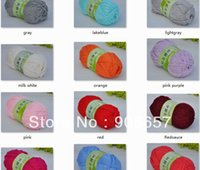 Wholesale 2 g Skeins Soft Milk Silk Cashmere Cotton Sweater Yarn bulky g milk white purple blue red black and more colors