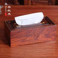 Wholesale Rosewood inlay boxwood mahogany mahogany box box box paper towel factory