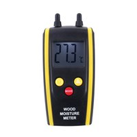 Wholesale 2015 new come Professional Digital Wood Moisture Meter Ambient Temperature Tester LCD Backlight Display