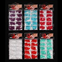 Wholesale colors mixed batch French Side False Fake Nail Tips With Box Acrylic Nail Art boxes