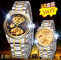 automatic water machine - BOSCK Automatic mechanical watch Hollow out men watch fashion man business pointer stainless steel tables gold machine watches ems