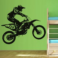 adhesive vinyl numbers - Hot Sale Self Adhesive Home Decor PVC Sticker Racing Number Racer Riding Motorbike Wall Decal Bedroom For Children