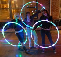 Wholesale 10pcs LED HULA HOOP diameter cm performance sport equipment weight lose