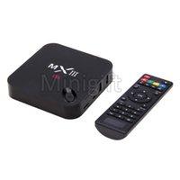 Wholesale MX3 MXIII Android TV BOX Amlogic S802 MXIII KODI XBMC Android TV BOX Amlogic S802 Quad Core K IPTV Set Top Box ghz WIFI Remote