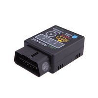 Wholesale HH Mini OBD ELM327 Bluetooth V2 OBDII OBD2 OBD Protocols Car Diagnostic Tool Scanner Tester Works on Android Symbian Windows
