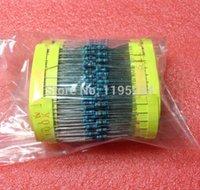 Envío 600pcs / lot 30 tipos de valor de la resistencia, 10R-1M, 20pcs cada kit 1% resistencias de película metálica DIP, a través de orificio mayor-libres