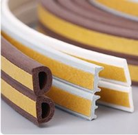 adhesive foam strip - Self Adhesive D E Type Doors Windows Foam Seal Strip Soundproofing avoid Collision Rubber window door Sealing strips DHL FEDEX