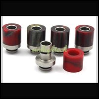 resin material - Epoxy resin drip tips resin stainless steel wide bore short drip tip imported material colorful heat resistance electronic cigarettes