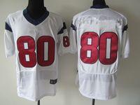 Cheap Houston JOHNSON AMERICAN football jerseys #80 JOHNSON Jersey High quality stitched on size M-XXXL mixed order free shipping
