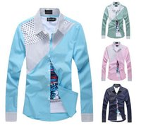Wholesale 2015 New spring Mens Shirt social slim fit Casual Shirts man red white blue Colors M XL camisa masculina