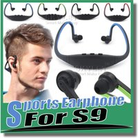 Universal apple wireless earphones - Bluetooth Headphone S9 Wireless Stereo Headset Sports Bluetooth Speaker Neckband Earphone Bluetooth With Retail Package With Retail Box