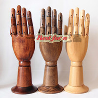 Mannequin Bracelet Wood Fashion Differnet Colors Mannequin Hand Manikin For Display Phone, Articulated Vintage Wooden Hand Mannequin