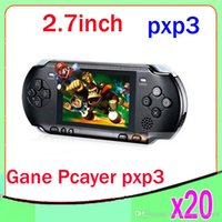 Wholesale DHL PXP3 Slim Station Pocket Game Bit Video Games Player Handheld Game Console Free Game Card ZY PXP3
