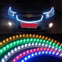 led strip light led strip lamp led flexible strip - 2x24CM LED motorcycle car bike decoration waterproof V Flexible led Strip Light white blue yellow red green parking lamp