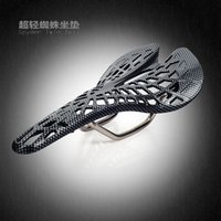 Wholesale Carbon Surface black Spider Ergonomics hollow Bicycle cycling accessories bicycle parts saddle for men women mtb bike seat cushion