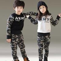 alphabet baby clothes - 5sets baby clothing suit spring new boy camouflage suits cotton alphabet children s sports suit