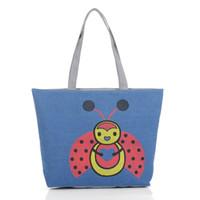 bee handbag - Korean Style Bee Printing Shoulder Bags Autumn Winter Fashion Ladies Designer Handbags Canvas Container Women Bag Fashion Handbags
