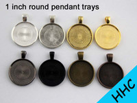 cameo necklace - 50pcs Inch Round Pendant Tray mm Cabochon Setting Round Bezel Pendant Blanks Blank Cameo Settings