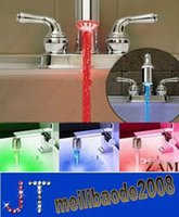 Wholesale 3 Color Water Glow LED Faucet Stream Light Temperature Sensor Safety Environmental Protection Shower HSA0651