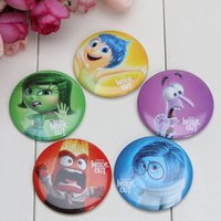 badge suppliers - 100pcs Inside out Buttons pins badges Brooch Badge MM fit kids toys party suppliers gifts
