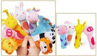 bibi kids - High Qualtiy Bibi Stick Baby rattle Plush Animal Stick Hand Puppets Educational Toys For Kids