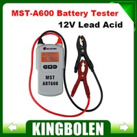 Wholesale MST A600 V Lead Acid Battery Tester Battery Analyzer MST A600 Automotive Electrical Testers Test Leads