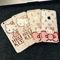 best phone stickers - 2016 Best gifts New Arrival Luxury Matte Cute Cartoon Hello kitty Mobile Phone Stickers For Iphone6 plus Front Back Full Protector Stickers