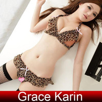 Cheap Grace Karin Sexy Women Underwear Lingerie Open Bust Bra + Open Crotch Panties SU542