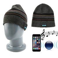 active strips - Unisex Soft Warm Winter Hat Wireless Bluetooth Hat Knit Stripped Hat With Headphones Handsfree For Music new arrival