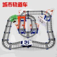 Wholesale Urban microcosm electric rail car racing track Thomas train assembly Variety Children s educational toys