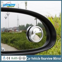 Wholesale 2pcs pair Hot Sale Car Rearview Mirror Side Wide Angle Round Convex Car Vehicle Mirror Blind Spot Mirror Auto RearView