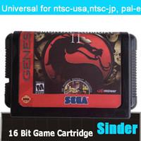 Wholesale Mortal Kombat II Unlimited Game Game Cartridge Bit Big Black Game Card For Sega Mega Drive Genesis
