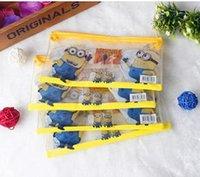 Wholesale Frozen Elsa pencil pouch pen bag Spider Man pencil case minion students pen boxes kids Princess Christmas gift