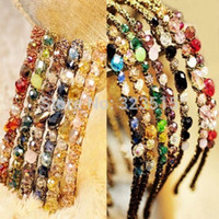 alice beads - FG1511 Crystal Hair Bands Alice Band Headband Sparkling Glass Beads Vintage Style New