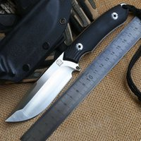 Wholesale Bolte Lion newest D2 blade G10 handle fixed blade hunting knife KYDEX Sheath tactical camping survival outdoors EDC knives tools