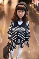 Wholesale Mother And Daughter Aztec Cardigan Big Kids Print floral loose Poncho children s spring knit jackets baby girl outwear