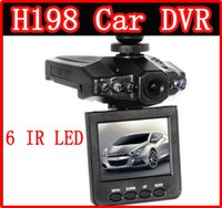Wholesale NEW Car DVR Radio H198 Camera System Black box Blackbox IR LED Night Video Recorder inch H198 TFT Screen Rotating