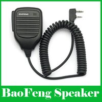 Wholesale Original BAOFENG Radio Speaker Mic for UV5R UV RA UV RE UV R Plus BF S BF S BF UV UV D GT Walkie Talkie DHL Retail Packag