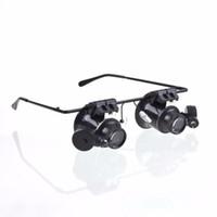 adjustable metal frame - 10Pcs Adjustable LED Light New Designed Metal Frame Glasses Type Magnifier for Watch Repair