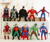 batman games cartoon - Superhero avenger Movie cartoon Stuffed Plush Doll batman hulk thor spiderman Captain Americ Robin Iron Man superman kids toy party gift