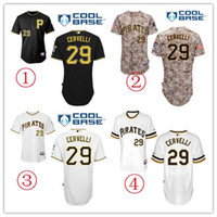 fashion baseball jerseys - Authentic Men s pittsburgh pirates jerseys Francisco Cervelli Jersey white gray black Cool Base Baseball Jerseys fashions sports